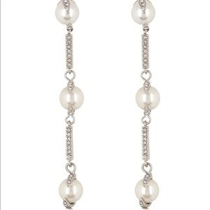 Vince Camuto Linear Glass Pearl Earrings